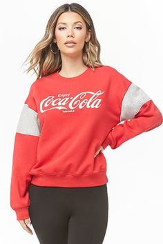 Forever 21 is the authority on fashion & the go-to retailer for the latest trends, styles & the hottest deals. Shop dresses, tops, tees, leggings & more! Classy Outfits, New Outfits, Fashion Outfits, Classy Clothes, Women's Fashion, Cute Sweatshirts, Hoodies, Coca Cola, Forever 21