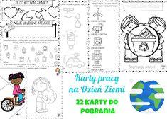 Dzieckiem bądź: Karty pracy Dzień Ziemi Learn Polish, Earth Day, Word Search, Diagram, Learning, Words, Studying, Teaching, Horse
