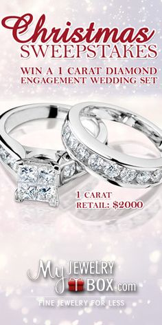 Here's Your Chance to #Win a 1 Carat #Diamond Engagement #Ring! #jewelry #sweeps VALID UNTIL DEC 25