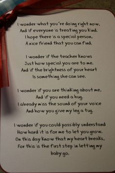 With my eldest beginning preschool in a few weeks this really pulled at my heart strings.