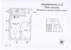 App. n° 10 - Ingresso, soggiorno con angolo cottura, camera, bagno. Comune di Campiglia Marittima (LI)