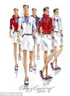 cf23d0f3617  Are the Olympics in the Hamptons this year    Thousands mock preppy Team  USA s Ralph Lauren Olympics closing ceremony uniform