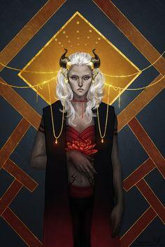 Bloody Lotus by aragnael - Dragon Age tarot