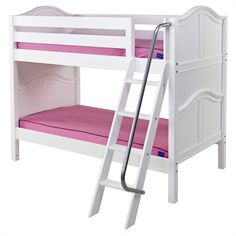 Girls perfect bunk - two Maxtrix daybeds create a cute, girly bunk. Extra storage drawers are great to make cleaning up her room quick and easy. Low Bunk Beds, Girls Bunk Beds, High Beds, Dream Home Design, Tiny House Design, Beds For Kids Girls, Curved Bed, Bedding Shop, Bed Sizes