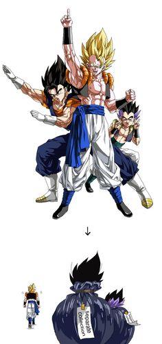 Dragon Ball Z: Vegito, Gogeta and Gotenks Dragon Ball Gt, Dragon Ball Z Shirt, Goku 4, Akira, Dbz Memes, Gogeta And Vegito, Dragon Super, Dbz Characters, Shadow The Hedgehog