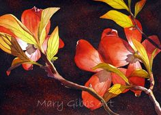 Flowers | Mary Gibbs Art Watercolor Disney, Watercolor Flowers, Watercolor Paintings, Watercolour, D Flowers, Flowers Nature, Watercolor Projects, Spring Blooms, Botanical Art