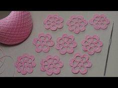 Вязание простого ЦВЕТКА - урок вязания для начинающих - Lesson crochet flowers - YouTube