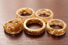 Gold Flake Resin Ring Resin Ring Gold Flakes Resin Ring Resin Jewelry Gold Ring Gold Flakes Ring Jewelry Valentines Gift Rings Gift For Her
