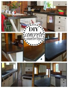 DIY Concrete Countertops on a Budget. Tips and Tricks .