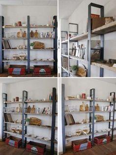 画像2: ≪シェルフ≫【ウォール・ブックシェルフ USED足場板×アイアン/2m×2m Ashiba-Book shelf】