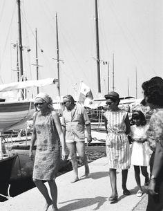Princess Grace on the town docks, Costa Smeralda