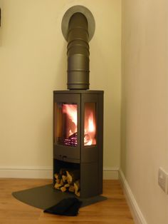 Contura 850 grey corner Wood Burner, Stoves, Kitchen Styling, Tiny Houses, Cabins, Cottages, Corner, Home Appliances, House Design