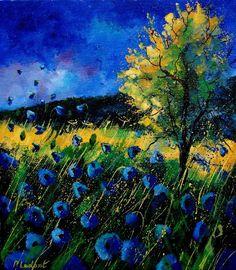 Pol Ledent....Blue Poppies