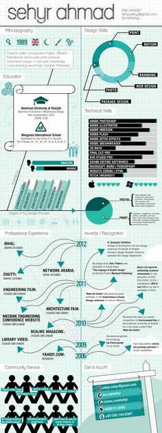 Infographic Resume of C. Onur Erbay on Behance   Infographic Visual ...