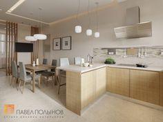 Фото: Интерьер зоны кухни - Интерьер дома в современном стиле, коттеджный поселок «Небо», 272 кв.м.