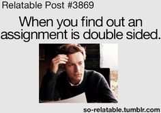 When You Realise A Test Is Double-Sided:
