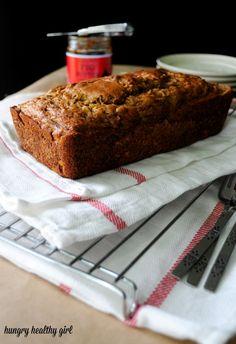 Rhubarb Banana Bread- you won't miss the oil or sugar in this scrumptious bread!