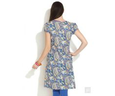 Floral Print Kurta With Contrast Placket : http://lamora.in/kurtis/floral-print-kurta-with-contrast-placket.html?limit=100