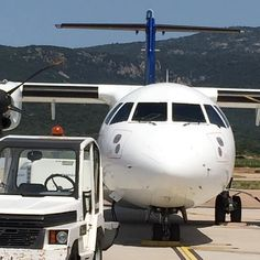 Face to Face #ATR72 #Figari #airport #Corsica #airportlife #groundops #parking #stand #aviationlife #aviationporn #aviationgeek #aviationporn #aviationspotters #avgeek #photooftheday