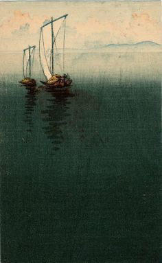 Boat on the Water, by Artist Unknown (Japanese), Late Meiji era