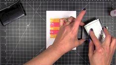 cardmaking video tutorial: Brush Stroke Stripes ... love/Valentine ... Hero Arts