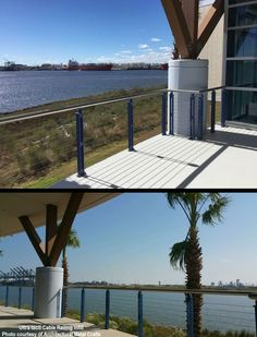 Commercial cable railing project in metal posts. Stainless steel cable railing from UItra-tec®.