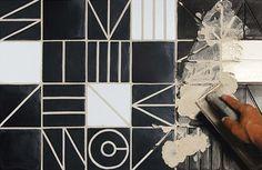 Commune Tile  Modernist geometric pattern