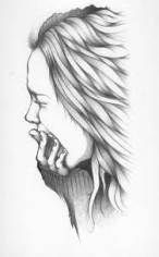Ideas for sad art sketches easy Crying Girl Drawing, Cry Drawing, Girl Drawing Easy, Drawing Faces, Love Drawings Tumblr, Sad Drawings, Pencil Drawings, Quote Drawings, Sad Sketches