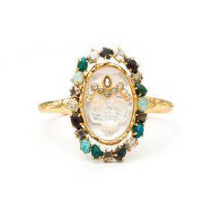 Gold Muse D\'or Skull Cuff Bracelet