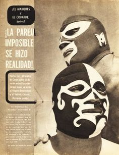 Amazing positioning of the luchadors - the grey really works too