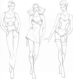 flat sketching - croquis