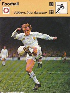Billy Bremner of Leeds Utd in Leeds United Football, Leeds United Fc, Retro Football, School Football, Football Memorabilia, Everton, Football Players, 1970s, The Past