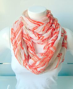 Scarf With Perfect Design Orange and Brown ColourLoop by BestScarf, $19.90