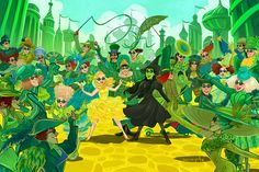 OH MY OZ!!! This is the most amazing fan art for wicked I've seen by far!