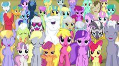 Grumpy and happy ponies
