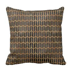 Black and Gold Abstract Pattern Throw Pillow - minimal gifts style template diy unique personalize design