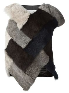 Shop Maison Margiela patchwork fur gilet  in Penelope from the world's best independent boutiques at farfetch.com. Shop 300 boutiques at one address.