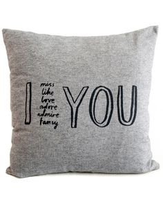 I Adore YOU Cushion Cover By Karin Akesson | Modern Design Cushion Cover, I love you gift | ARTSY MODERN | Fresh Modern Design For You & Your Home
