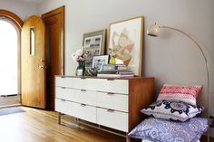 Living With Kids: Michelle LeBlanc. Photos by Paul Owen. Love the entry way of this house. #dresser #decorate