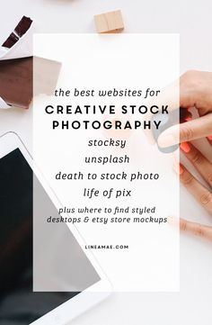Here are my favorite websites to get images that constantly deliver on quality and creativity.