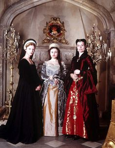 Jane Seymour, Anne Boleyn and Catherine of Aragon. From the HenryVIII Miniseries.  This was a great series altho some inaccurcies.