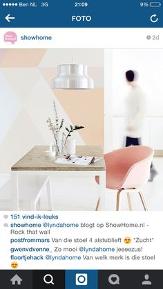 Roze stoelen