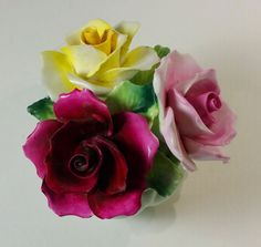 Vintage Staffordshire England Radnor Bone China Porcelain Flower Floral Bouquet
