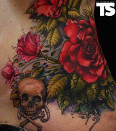 tattoo rose/skull- love it