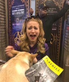 Same Christy same Anastasia Broadway, Anastasia Musical, Broadway Theatre, Musical Theatre, Christy Altomare, Laura Osnes, Theatre Nerds, Broken Leg, Les Miserables