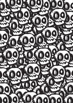 Skulls art print / pattern