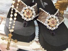 <3 Cowgirl Envy Flip Flops