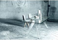 Table Alister - design Jean-Marie Massaud - Glas Italia