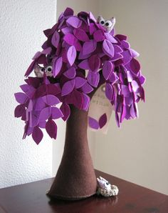 Weeping Willow Felt Tree by Intres on Etsy