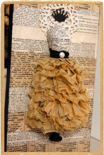 cute ruffle dress card